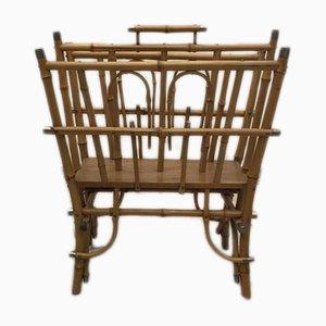 Antiker Bambus Zeitungsständer