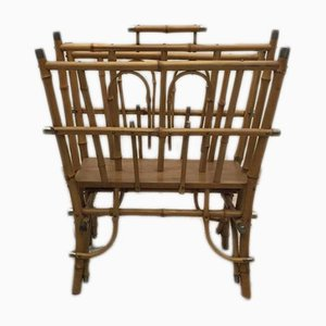 Antique Bamboo Magazine Rack
