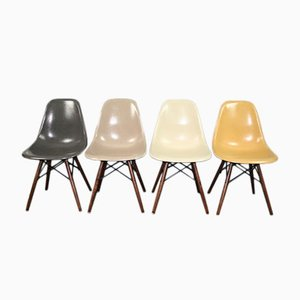 Vintage DSW Chairs by Charles & Ray Eames for Herman Miller, 1960s, Set of 4