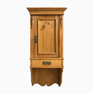 Antique Soft Wood Cupboard, 1890s