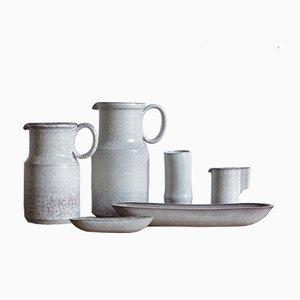 Vase Céramique et Set de Plat par Alessio Tasca, 1970s