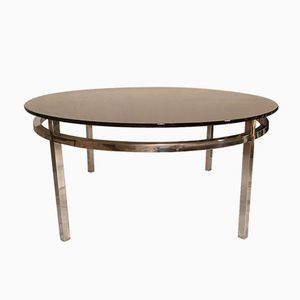 French Round Coffee Table, 1970s