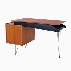 Teak Desk with Hairpin Legs from Cees Braakman for Pastoe