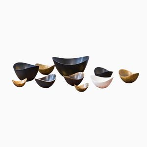 Stoneware Bowls by Gunnar Nylund for Rörstrand, 1950s, Set of 10