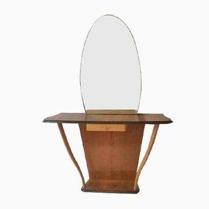 Vintage Konsolentisch mit Spiegel, 1950er