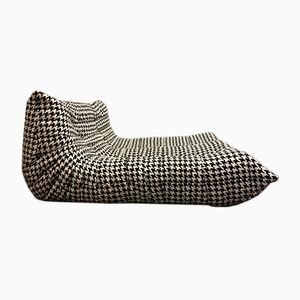 Black and White Togo Lounge Two-Seater Sofa by Michel Ducaroy for Ligne Roset, 1974