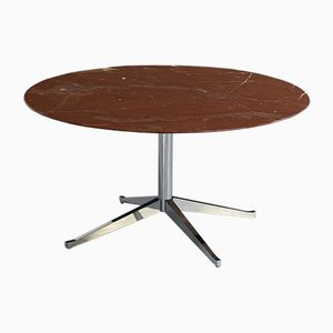 vintage round marble table by florence knoll