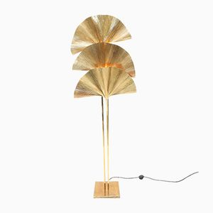 Gingko Leaf Floor Lamp by Tomasso Barbi, 1970s