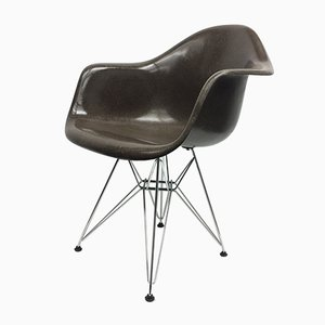 Vintage Brown Armchair by Charles & Ray Eames for Vitra