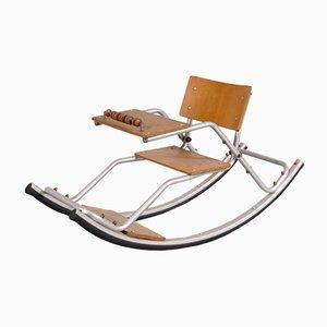 Sedia a dondolo da bambino con base in alluminio, anni '50