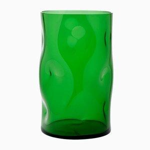 Petit Vase Bugnato Vert par Eligo
