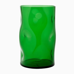 Small Green Bugnato Vase by Eligo