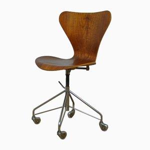 Chaise de Bureau Pivotante Early Edition Modèle 3117 par Arne Jacobsen pour Fritz Hansen, 1960s