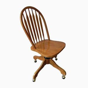 Vintage Adjustable Wooden Feather Chair