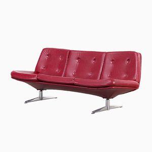 Rotes Skai 3-Sitzer Sofa, 1960er