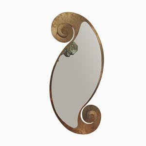 Iron & Gold Leaf Mirror, 1980s
