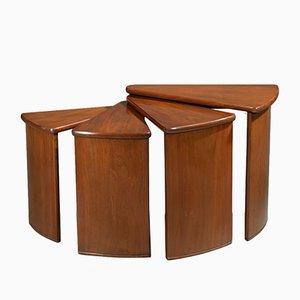 MB106 Tische in Fächerform von Pierre Chareau, 1920er