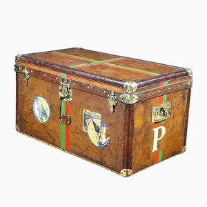 Leather Steamer Trunk with Key from Goyard,1893