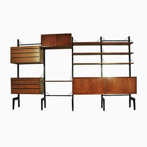 Mid-Century Royal System Oak Wall Unit by Poul Cadovius for Cado