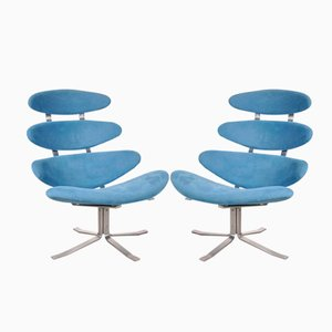 Danish Corona Chairs by Poul Volther for Erik Jorgensen, 1964, Set of 2