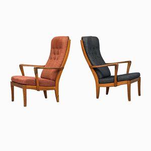 Easy Chairs Mabulator par Carl Malmsten, 1943, Set de 2
