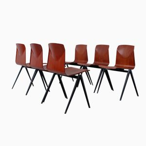 Thur Up S-22 Teak Pagwood Chairs from Galvanitas, Set of 6