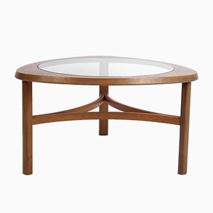 Mid-Century Teak & Glass Coffee Table