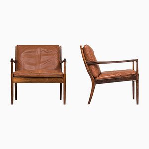 Samsö Easy Chairs by Ib Kofod-Larsen for OPE, Set of 2