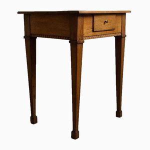 Small Art Deco Oak Side Table, 1910s