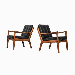 Mid-Century Model 116 Senator Easy Chairs by Ole Wanscher for France & Søn, Set of 2