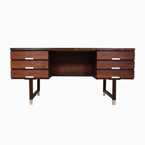 Mid-Century Rosewood and Aluminum Desk by Kai Kristiansen