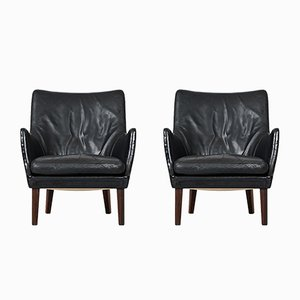 Mid-Century Easy Chairs by Arne Vodder for Ivan Schlechter, Set of 2