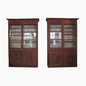Early 19th Century Italian Painted Bookcases, Set of 2