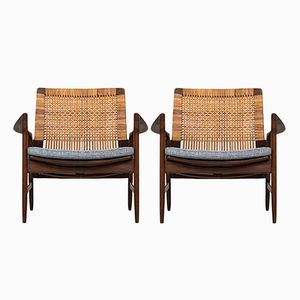 Easy Chairs by Ib Kofod-Larsen for OPE, 1960s, Set of 2