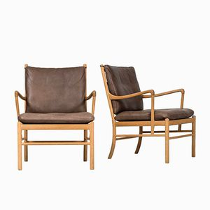 Model PJ-149 Colonial Easy Chairs by Ole Wanscher for Poul Jeppesen, 1960s, Set of 2