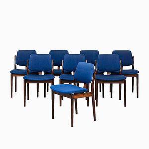 Esszimmerstühle von Arne Vodder für Sibast, 1960er, 8er Set