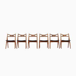 Vintage CH29 Stühle von Hans J. Wegner für Carl Hansen, 6er Set