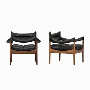 Modus Easy Chairs by Kristian Solmer Vedel for Søren Willadsen Møbelfabrik, 1963, Set of 2