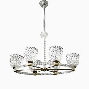 Rostrato Ceiling Light from Barovier & Toso, 1940s