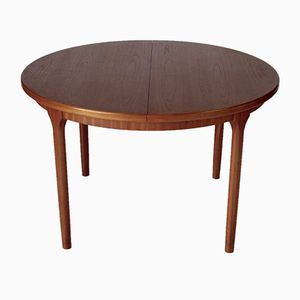 Teak Extendable Circular Dining Table from McIntosh, 1970s