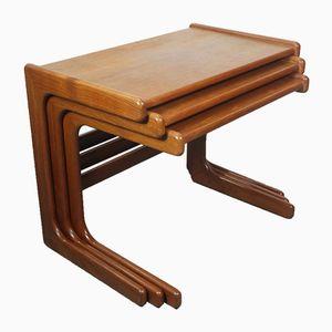 Tables Gigognes Vintage en Teck