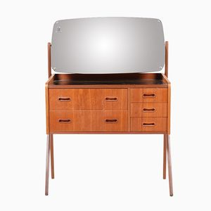 Danish Teak & Glass Dressing Table, 1950s