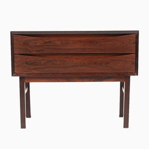 Danish Rosewood Chest with Two Drawers, 1950s