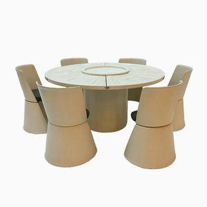 Vintage Dining Table Set by Fabio Lenci for Bernini