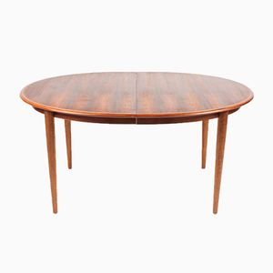 Danish Mid-Century Rosewood Dining Table with 2 Extension Leaves, 1960s
