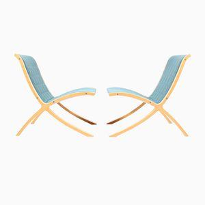 Danish Lounge Chairs by Hvidt & Mølgaard for Fritz Hansen, 1980s, Set of 2