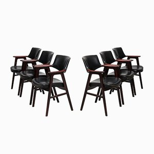 Rosewood Armchairs by Erik Kirkegaard for Høng Stolefabrik, Set of 6
