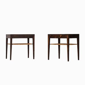 Rosewood Bedside Tables by Severin Hansen for Haslev Møbelsnedkeri, Set of 2