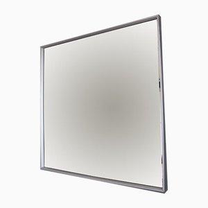 Vintage Aluminum Square Mirror