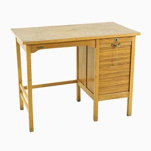 Mid-Century Schreibtisch mit Rolltür